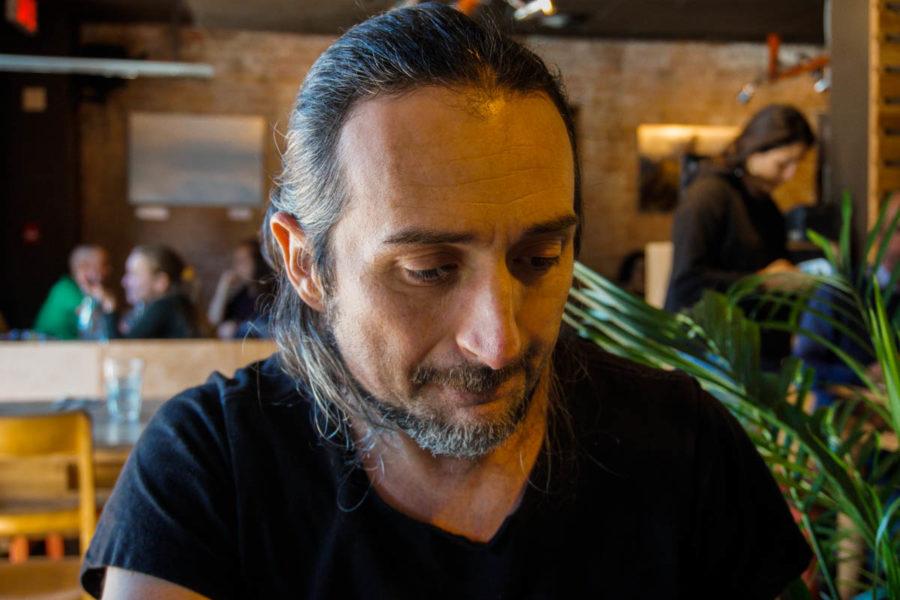 Simone at Lola Rosa vegan restaurant in Montreal