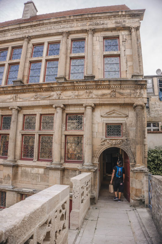 Simone visiting historical sites in Langres