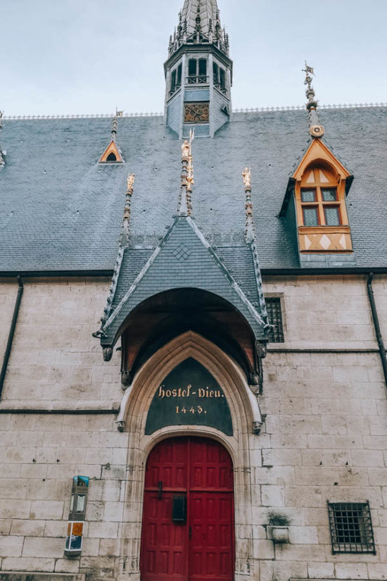 The Hotel Dieu in Beaune in Burgundy France