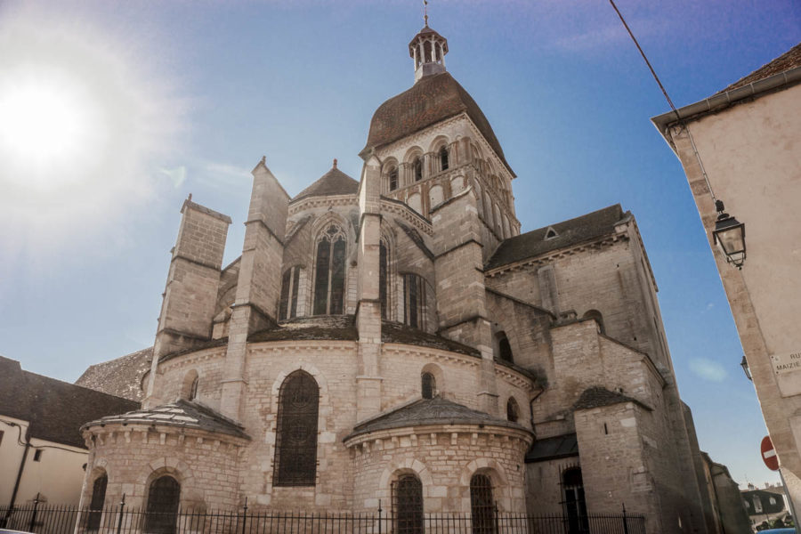 The back of the church in Beaune