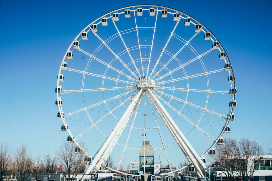 The big wheel in Montreal Old Port in March