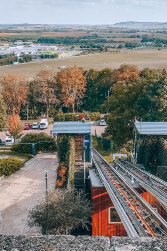 The funicular in Langres