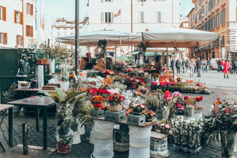 The market at Campo de' Fiori