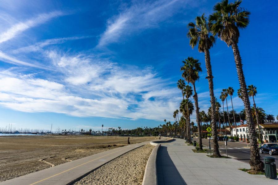 The beautiful Santa Barbara on a California road trip