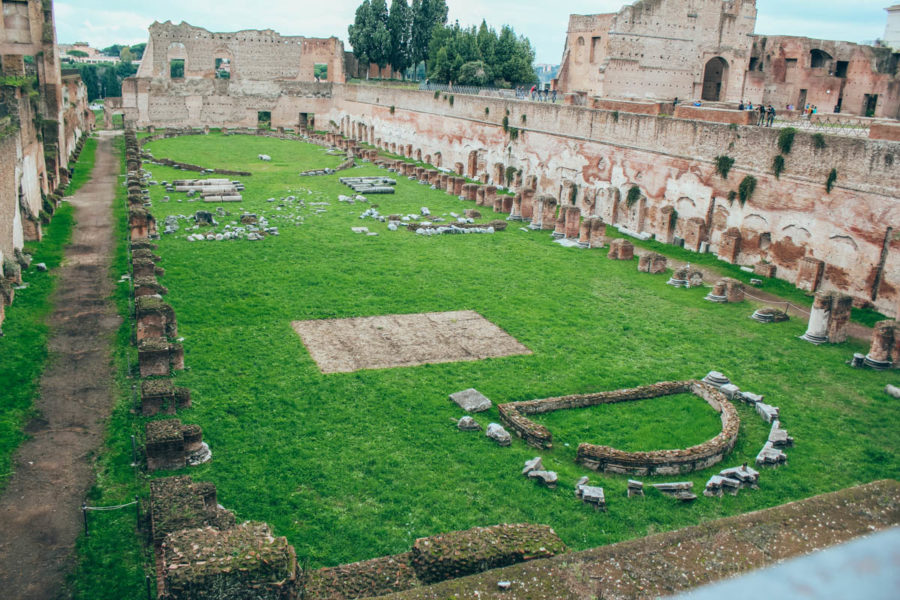 The remains on the Palatine Hill
