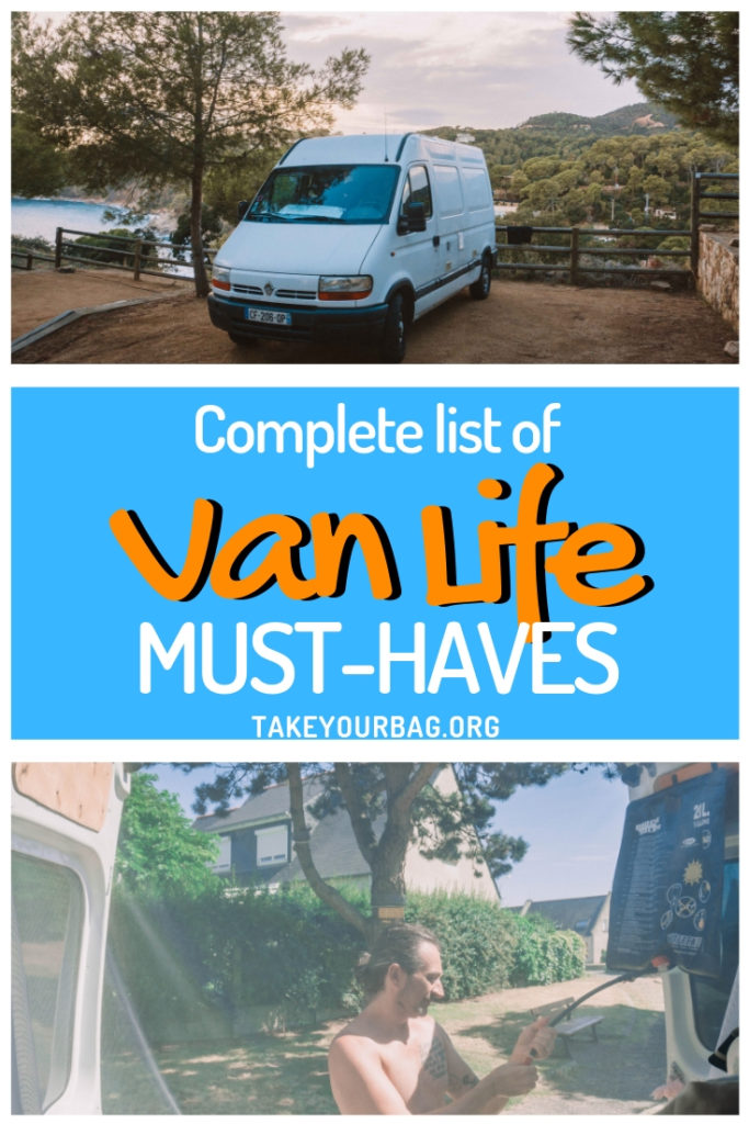 Van Life Must-Haves | List of items you should purchase to make your van life easier on a road trip!