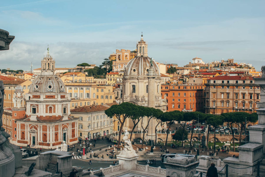 View from the Vittorio Emanuele II Monument in Rome