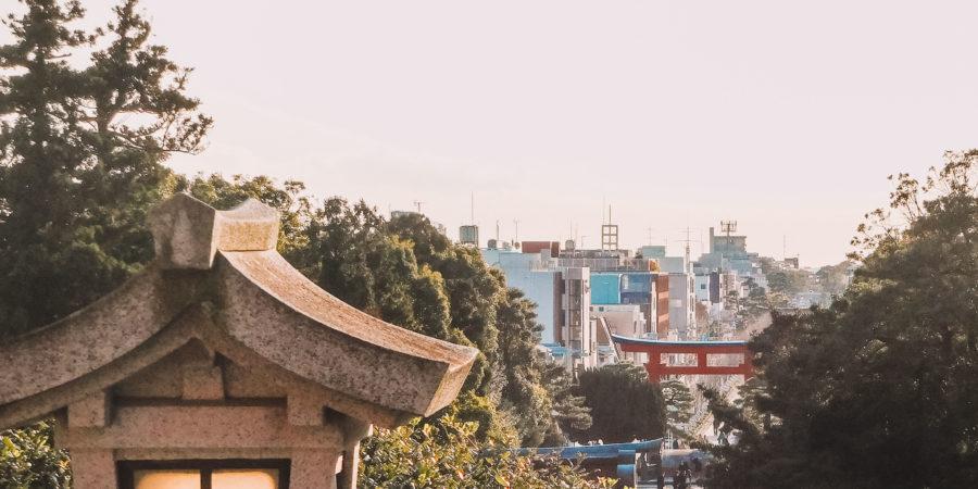 View of Kamakura from Tsurugaoka Hachimangu Shrine