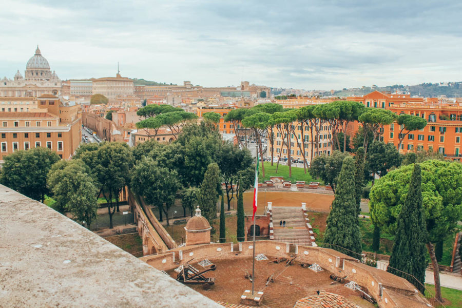 View of Rome and Vatican from Castle Sant'Angelo