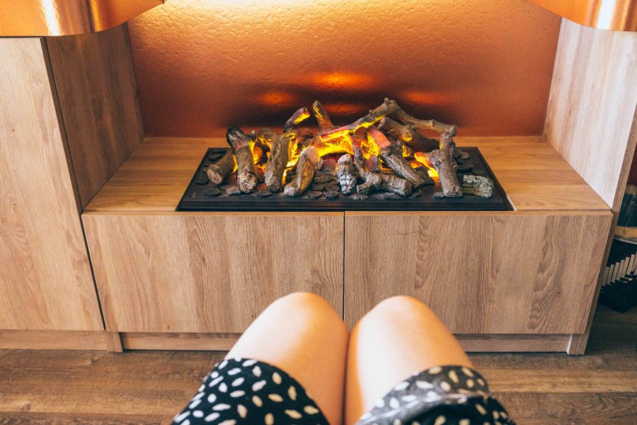 Alpe d Huez ski holidays-Duplex Room Hotel Grandes Rousses-The fireplace