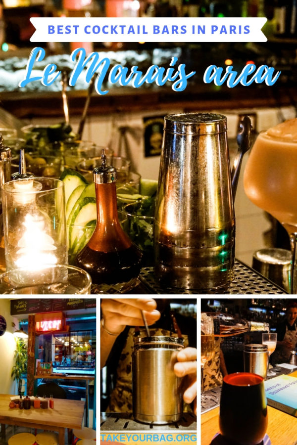 Best cocktail bars in Paris le marais area | Guide to the best bars in Paris | Speakeasy in Paris