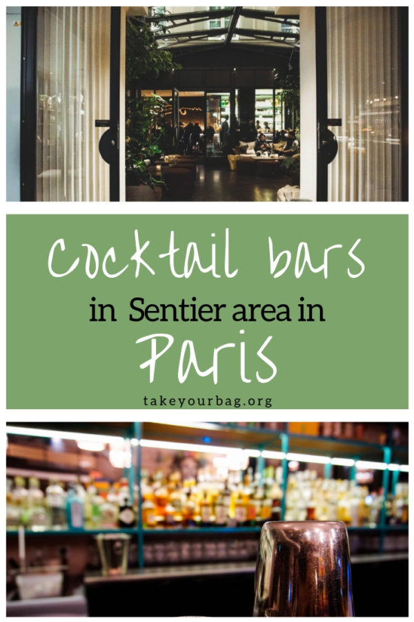 Cocktail bars in Sentier area in Paris on Pinterest