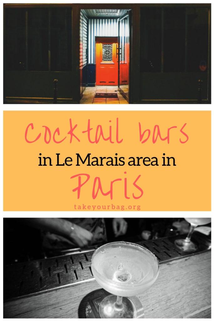 Cocktail bars in Le Marais area in Paris | Candelaria |Little Red Door | Bisou |Mary Celeste