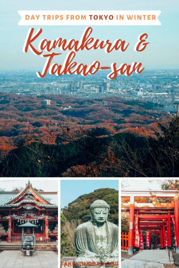 Day trips from Tokyo in winter | Kamakura in winter |Mount Takao in winter |Hiking trip from Tokyo