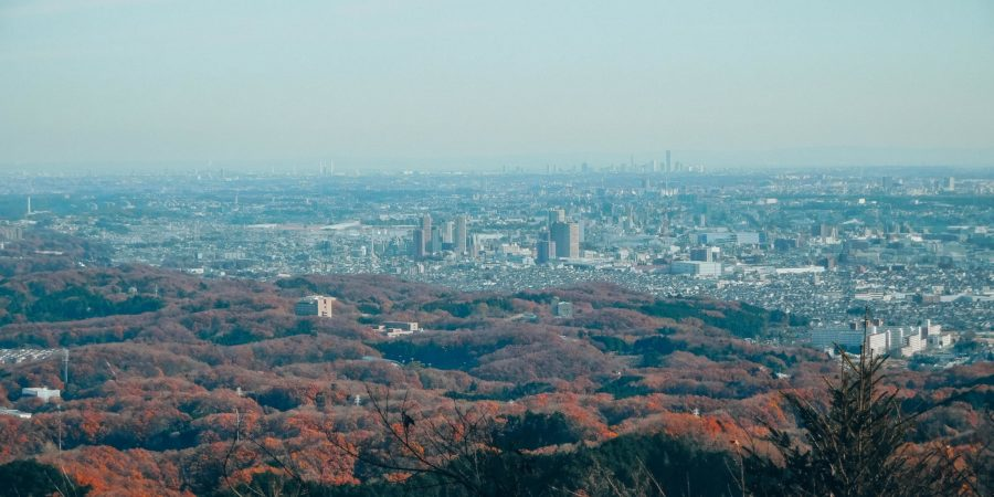 The view of Tokyo from Mount Takao on a day trip