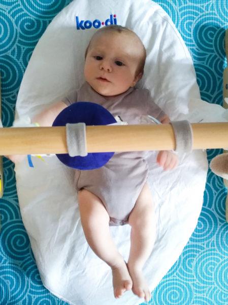 Using the Koo-di's mattress as a playmat under an arch