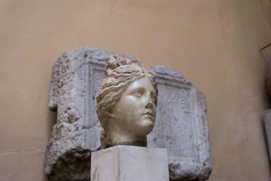 A roman statue in Aix les Bains