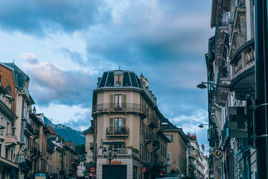 Aix les Bains city center