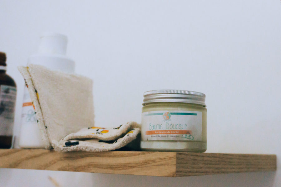 Moisturizing baby balm provided by Bébé Bulles et compagnie spa