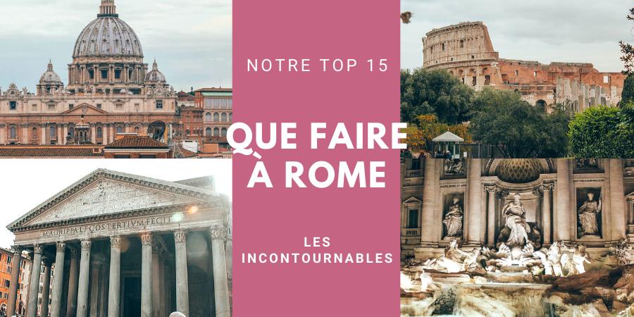 Que faire à Rome TOP 15