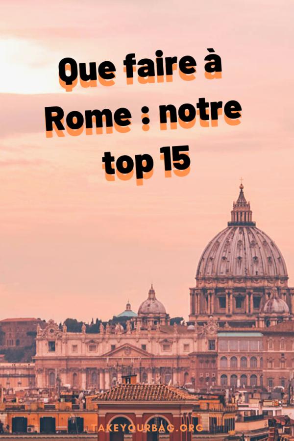 Que faire à Rome Pinterest