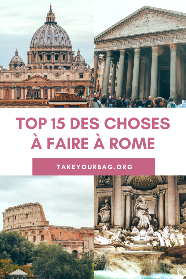 top 15 des choses à faire à Rome Pinterest