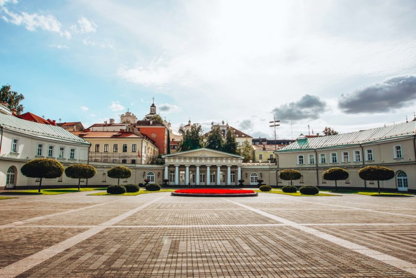 Top things to do in Vilnius is visit the presidential palace