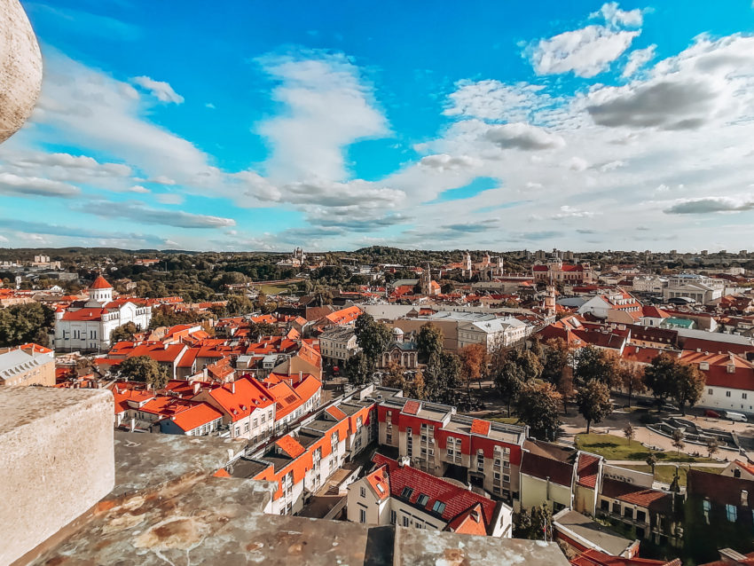 In Vilnius don't miss the view from the Bell Tower