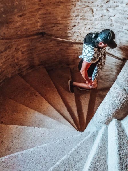 Les escaliers lors de notre visite au château de Suscinio-17