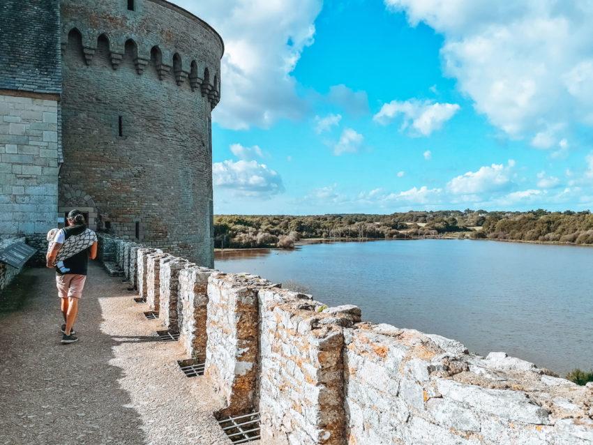 Vue d'en haut lors de notre visite au château de Suscinio-21