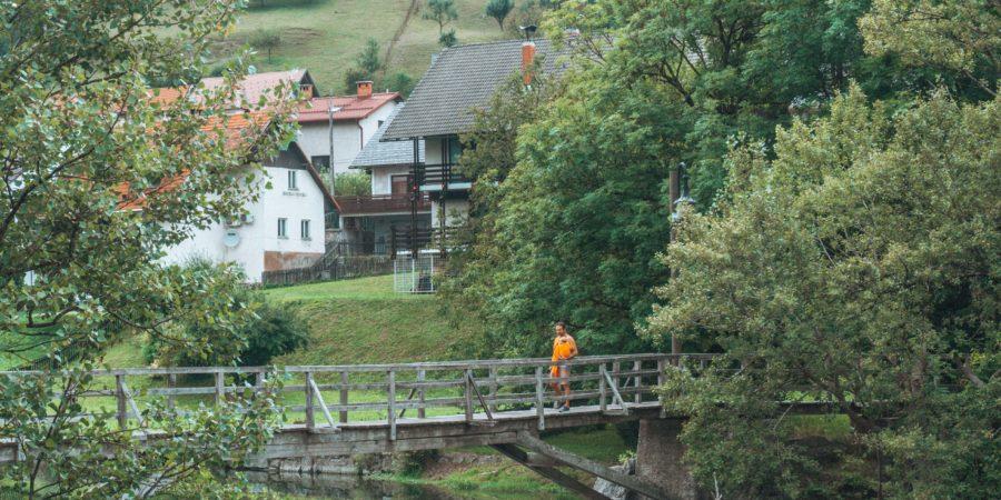 On our way to Skofja Loka in Slovenia on our European roadtrip