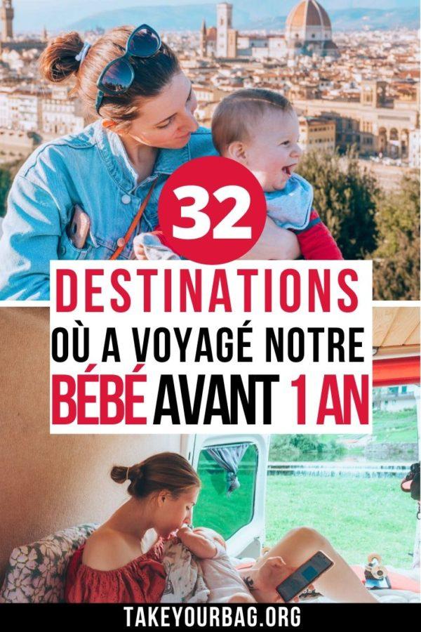 32 destinations où a voyagé notre bébé avant 1 an Pinterest