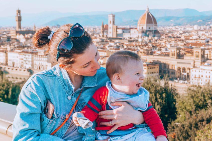 Bébé à Florence en Italie