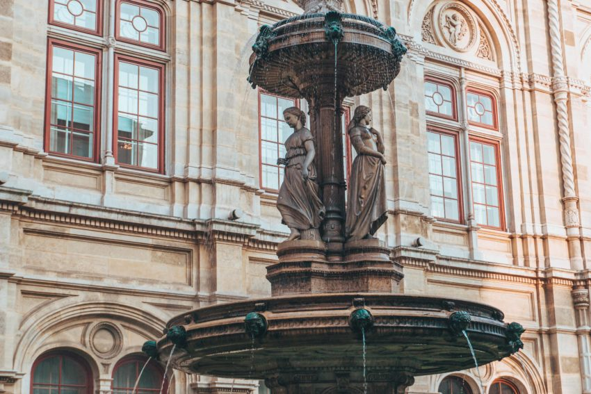 Fountain of the Opera House in Vienna