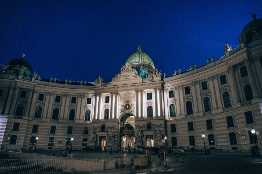 Hofburg Palace in Vienna at night