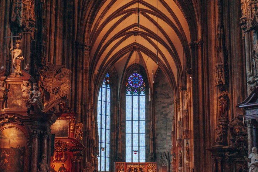 Inside St Stephen's Cathedral in Vienna