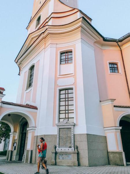 The Church of Anunciation of Virgin Mary in Cerklje na Gorenjskem in Slovenia