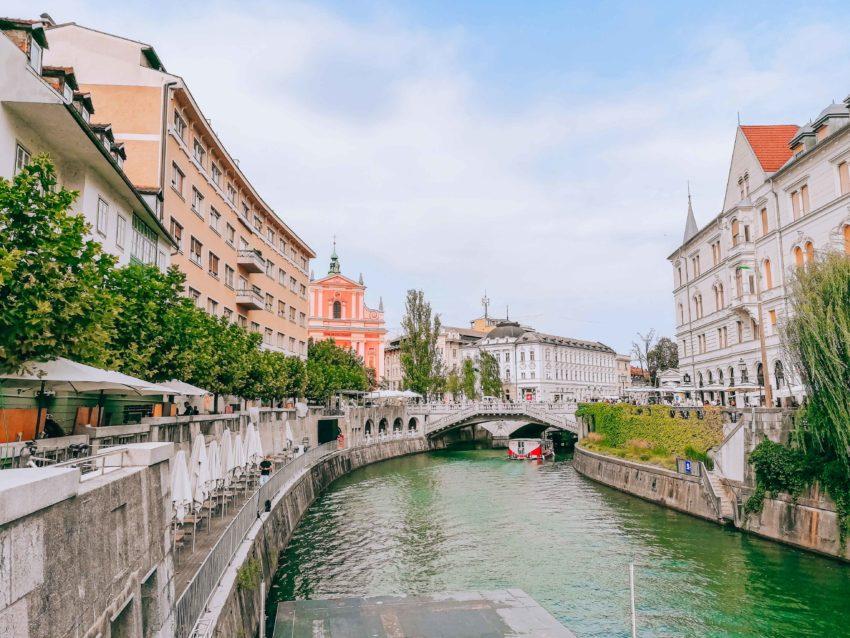 The Triple Bridge in Ljubljana in Slovenia