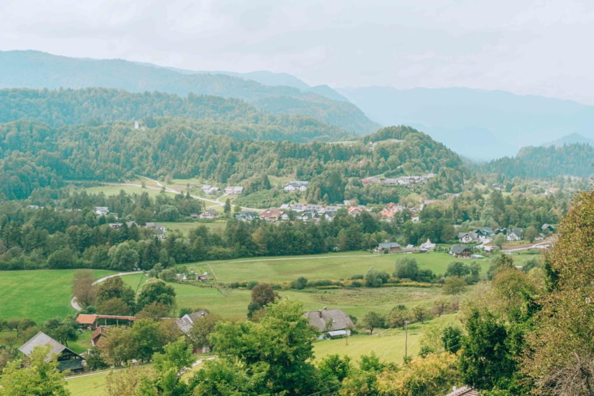 View from Radovljica's lookout in Slovenia