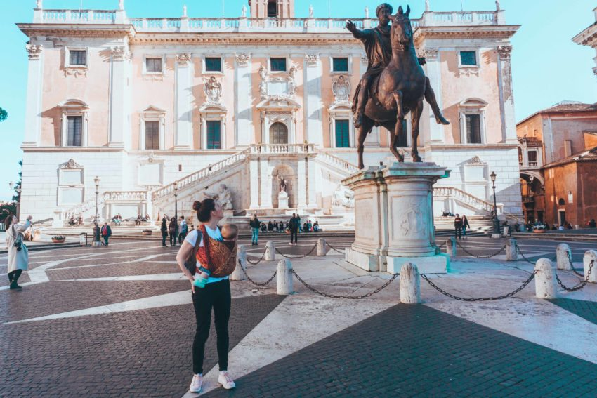 Visite de Rome avec bébé