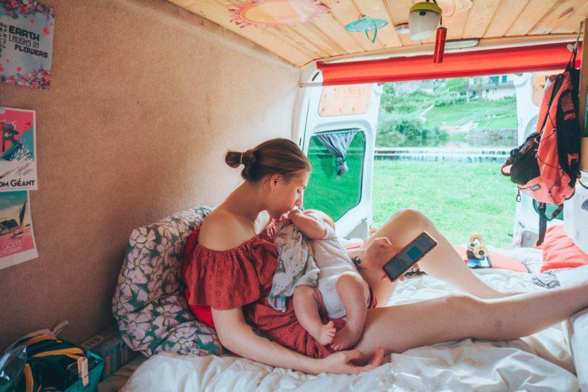 Voyage en van aménagé avec un bébé en Slovénie