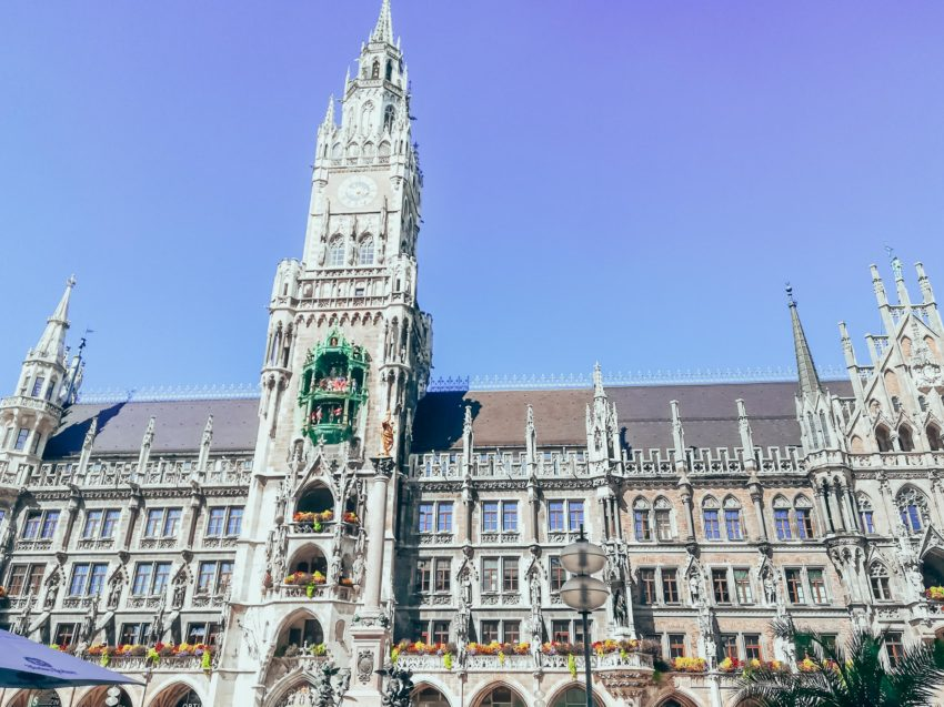 Marienplatz, a must see on 1 day in Munich with a baby