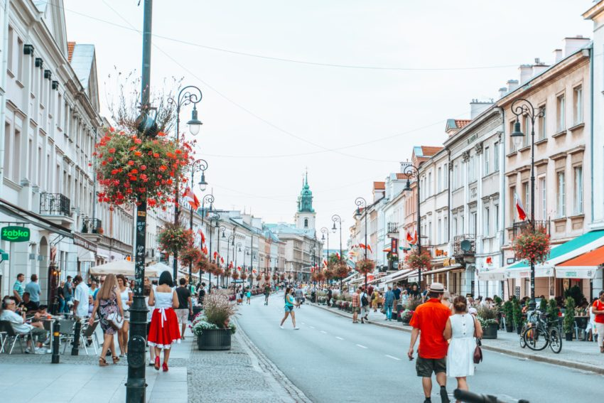 Royal Way in Warsaw