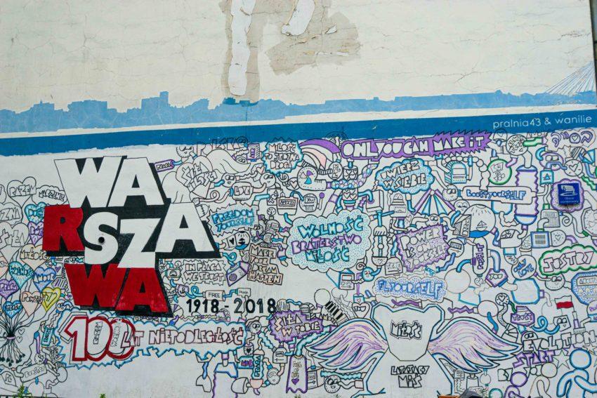 Street art in Praga in Warsaw