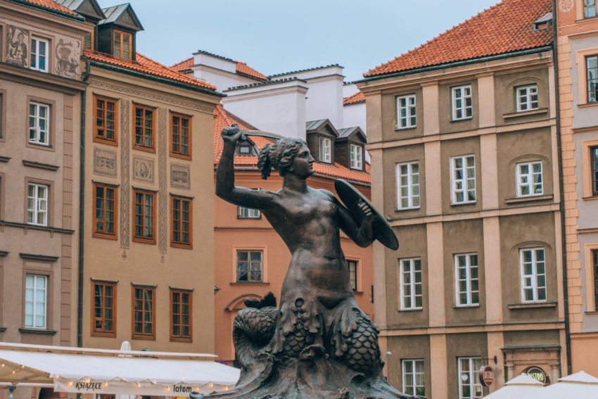 The Warsaw Mermaid on Market Square