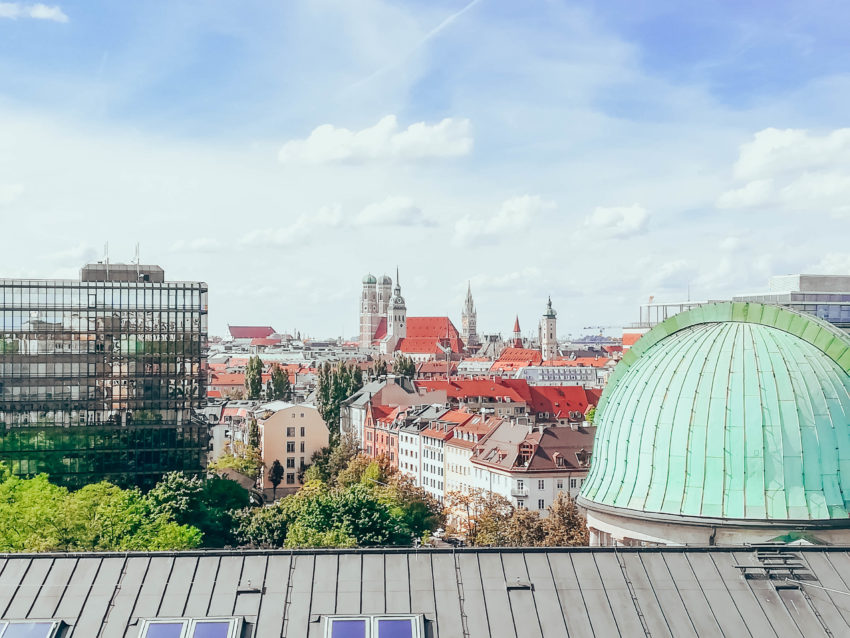 The view from the top of the Deutsches Museum in Munich