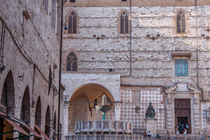The beautiful piazza IV Novembre in Perugia