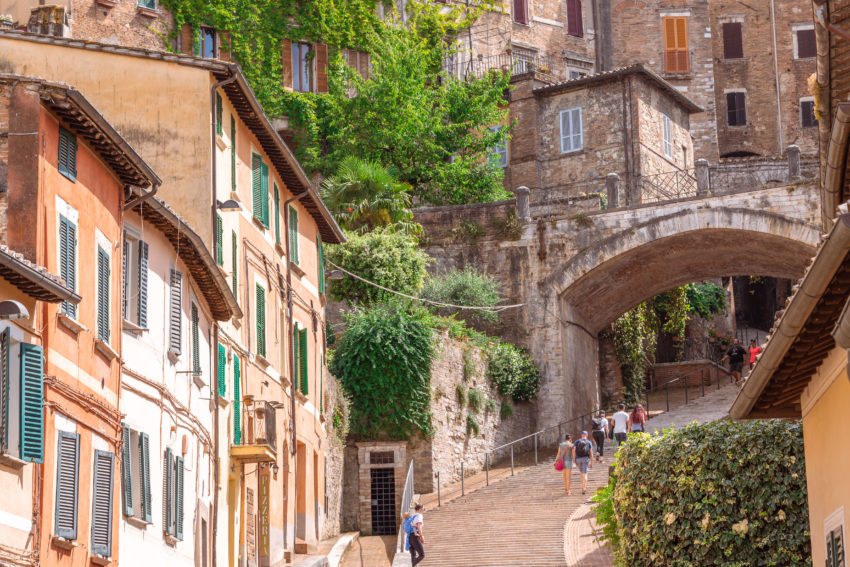 Best things to see in Perugia : the via dell'aquedotto