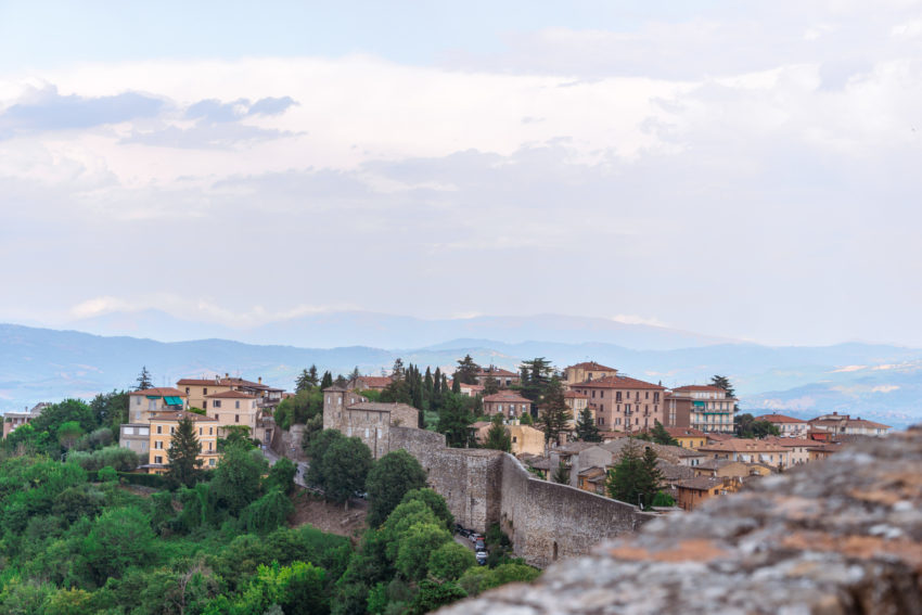 View from Porta Sole in Perugia